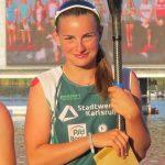 Pauline während der Siegerehrung des DKV-Jugend-Cups in Brandenburg